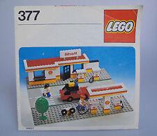 LEGO® Bauanleitung 377 Shell Tankestation ungelocht BA Anleitung