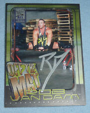 Rob Van Dam RVD Signed 2002 Fleer All Access WWE Card 73 Autograph ECW Wrestling