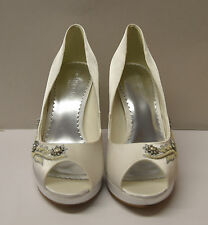 MONSOON OTHELLO PEARL TRIM PEEPTOE SHOES SIZE UK 4 EUR 37
