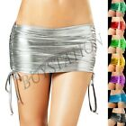 Womens Ladies Wet look Mini Short PVC Bodycon Tube Skirt Shiny Clubwear Costume