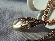 $275 ALEXIS BITTAR ROSE GOLD CRYSTAL ENCRUSTED JUNE BIRTHSTONE PEARL NECKLACE