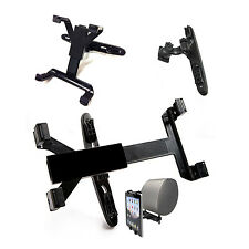 HEAVY DUTY CAR BACK SEAT HEADREST MOUNT HOLDER FOR VARIOUS TABLETS EBOOK READERS