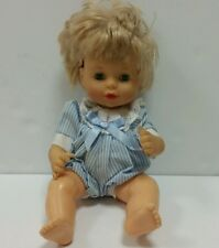 "Vintage City Toy 1996  Baby Boy rubber Plastic Doll 11""  blue eyes rare"