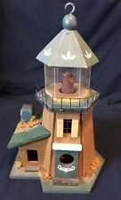 Vintage Decorative Wooden Lighthouse 11.5""