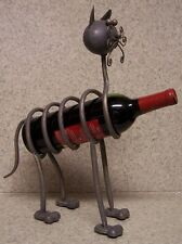 Wine Bottle Holder All Metal Whimsical Sculpture Cat NEW