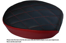 TWO TONE DIAMOND DARK RED CUSTOM FITS HARLEY SPORTSTER 883 48 72 REAR SEAT COVER