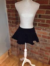 Fornarina Washed Black Ruffle Low Rise Mini Skirt Size M W26 L12""