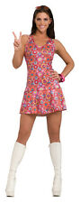 Adult Women's Sexy 60's Girl Adult Luv-In-Lucy Mini Dress Halloween Costume SM
