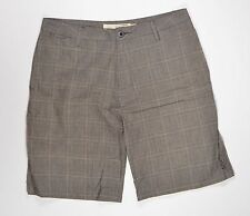 Ezekiel KAUFMAN PLAID Mens Khaki Fit Bermuda Dress Shorts Size 34 Grey/Black NEW