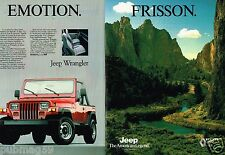 Publicité advertising 1989 (2 pages) Jeep Wrangler 4X4