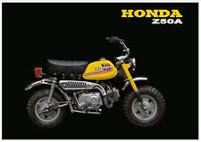 HONDA Poster Classic Z50A Z50 1976 Mini Monkey Bike Suitable to Frame