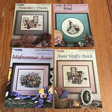 4 Paula Vaughan's  Counted Cross Stitch Pattern Leaflets Verdi's Porch Dream +++