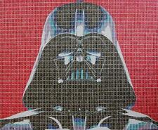 "NEW SUPERB GARY HOGBEN ORIGINAL ""Darkside Darth Vader"" STAR WARS STAMP PAINTING"