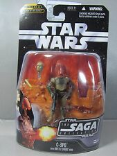 C-3PO Saga Collection #17 w/ Interchangeable Battle Droid Head NEW Action Figure