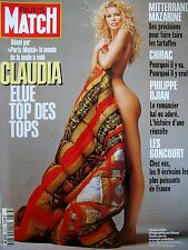 PARIS MATCH N° 2373 CLAUDIA SCHIFFER ELUE TOP DES TOPS VERSACE PHOTO AVEDON 1994