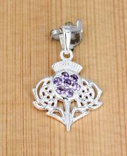Anhänger Silber Keltische Knoten Distel  -  Schottland Symbol  Thistle