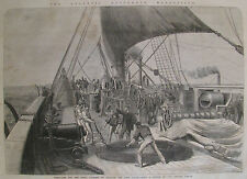 ATLANTIC TELEGRAPH CABLE ON THE GREAT EASTERN #4 1865 ILLUSTRATED LONDON NEWS