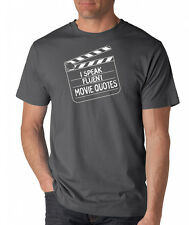 I SPEAK FLUENT MOVIE QUOTES funny nerd film buff movies geek novelty