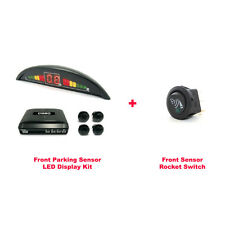 CISBO Front Parking 4 Sensor Audio Buzzer LED Display Kit with Rocket Switch
