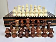 Vintage italien albâtre chess hommes set staunton stiyle K.77 mm sans bord ou box