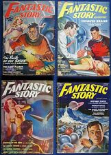 7 Issues FANTASTIC STORY Science Fiction Fantasy PULP Magazine, Good-VG, 1950-54