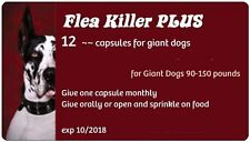 Flea Killer PLUS Meds, 12 Red Capsules for 90-130 lbs dogs, 1 full year supply