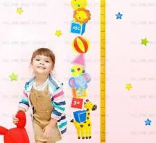 Animal Height Chart Measure Kids/Children Wall Stickers Nursery Decal Paper