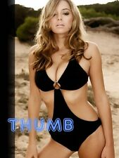 Keeley Hazell - 8x6 inch Photograph #004 in Black Swimsuit