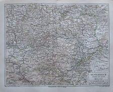 1875 OESTERREICH UNTER ENNS OB DER ENNS 2 alte Landkarten antique map Austria