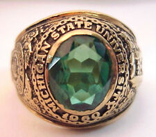 1960 Michigan State University 10K Mans Class Ring