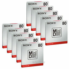 SONY Blank Mini Disc 80 min Recordable Reusable MD 10 packs JAPAN import F/S