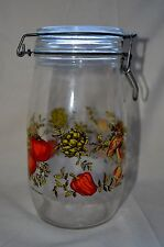 Vintage Corning Spice of Life Glass Mason Jar 1.5L Hinged Canister, France