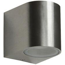 APPLIQUE MURALE 1  LAMPE GU10 LED 3 W INTERIEUR EXTERIEUR IP44 ACIER BROSSE