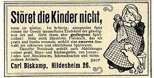 Carl Biskamp Hildesheim gediegene Spielsachen Historische Reklame von 1900