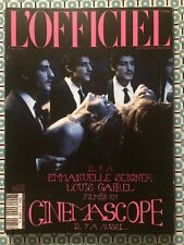 L'OFFICIEL PARIS French Mai 2014 Emmanuelle Seigner Louis Garrel Adjani Deneuve
