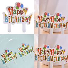 30X Happy Birthday Cake Cupcake Cake Topper Food Topper Shower Party Pick QWC