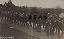 Soldier Group 19th ? Battalion London Regiment on route march 1912
