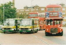 LONDON COUNTRY IVECO MBI61 & MBI60 WITH LT RML2305 AT ARCHWAY BUS STATION 1987