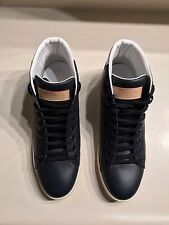 Louis Vuitton 'Surfside' Sneaker Boot in Navy Grained Calf Leather Size LV 8.5