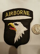 "AIRBORNE military EAGLE IRON or SEW ON PATCH 3""X3/3/4"""