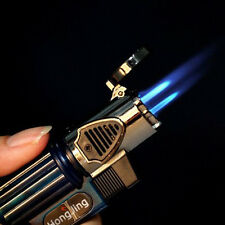 Windproof Three Nozzles Jet Torch Flame Cigarette Cigar Butane Gas Fuel Lighter