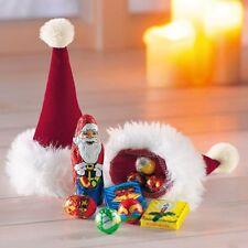Nikolausmütze Nikolaussocke gefüllt mit Schokolade Nikolausstiefel Weihnachten