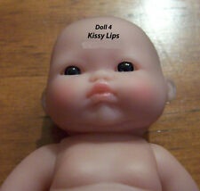 "Berenguer Kissy Lips Lots of Love 5"" inch Blue/Grey EYES  Baby Doll w Rose Scent"