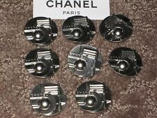 CHANEL AUTH. 8 SILVER  BUTTONS  23  MM  NEW  lot 8