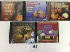 LOT OF 5 CD'S Flat Top Box Bluegrass  Country Guitar Burnin Up Strings Banjos E6