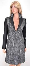 NEW KAREN MILLEN CR020 TAILORED TWEED WOOL BLEND HERRINGBONE MULTI COAT~8 12 40