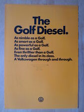 VOLKSWAGEN Golf Diesel 1978 UK Mkt sales brochure - VW