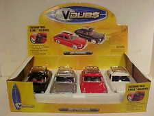 Pack of 4 VW Fastback 1600 TL 1965 Die-cast Car 1:24 by Jada Toys 8 inch