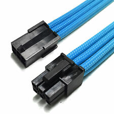 6 Pin PCIE GPU 30cm Extension Cable Blue Sleeved  + 2 Free cable Combs Shakmods