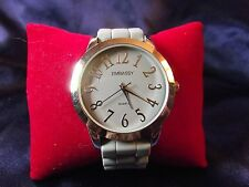 Woman's Embassy Watch with Gray Rubber Band B19-375